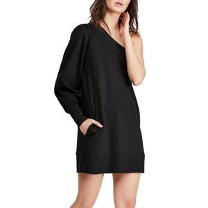 Free People Zoya One-Shoulder Black Dress NWT